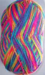 Multi-colour wool for braiding