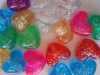 Glitter heart pony beads