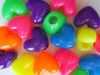 Neon heart shaped pony beads