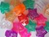 Glitter star pony beads