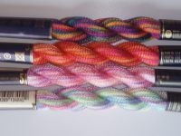 Colour changing pearl cotton threads